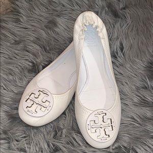 Tory Burch Cream Flats Size 9